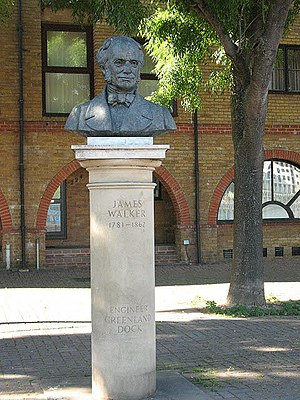 James Walker (engineer) - The Greenland Dock memorial