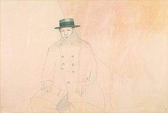 Jan Vanriet - Tatlin, 1980, watercolour, coll. Royal Museum of Fine Arts, Antwerp