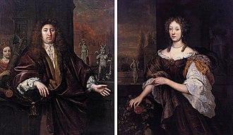 Jan de Baen -  Portrait of Gisbert Cuper and Aleida van Suchtelen