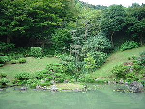 The gardens at Kannon-in in Tottori, Tottori prefecture, Japan