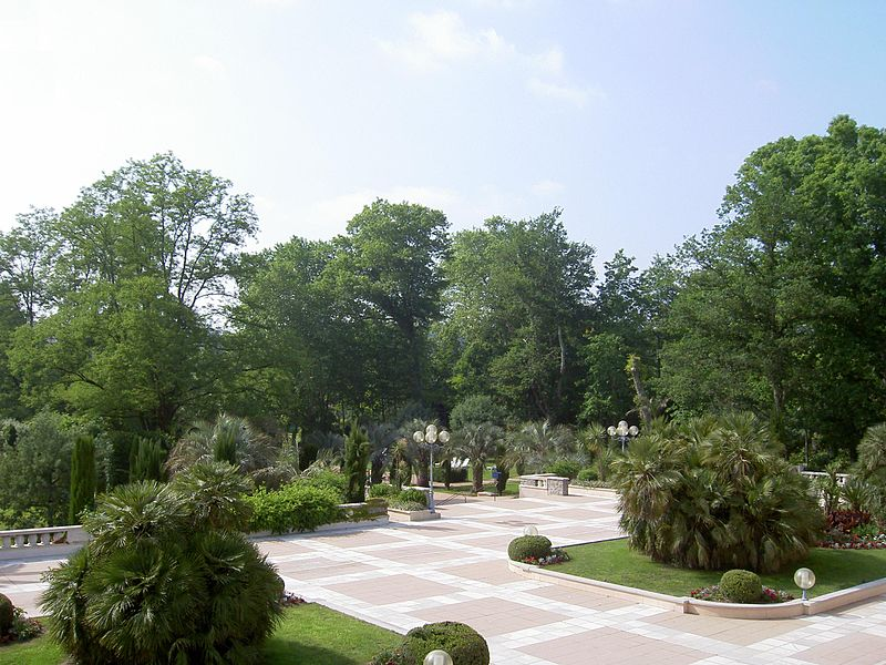 Photographie des jardins des thermes de Cambo-les-Bains