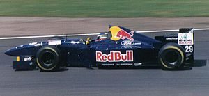 Jean-Christophe Boullion - Boullion driving for Sauber at the 1995 British Grand Prix.