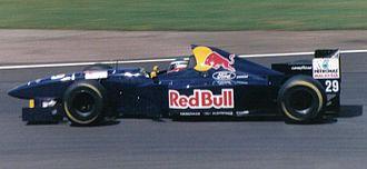 Jean-Christophe Boullion - Boullion driving for Sauber at the 1995 British Grand Prix.