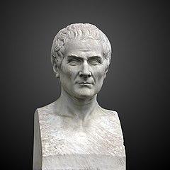 Bust of Jean-Jacques Rousseau at Jardin Botanique