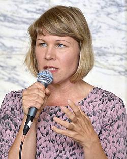 Jenny Andreasson på Det Kgl. Svenske Teater i september 2014.