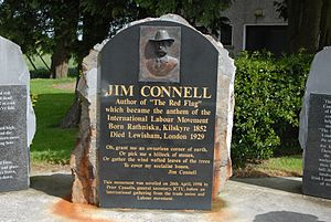 Jim Connell - memorial at Crossakiel