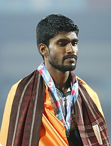 Jinson Johnson Of India(Bronze Medalist, Men 800m) (cropped).jpg