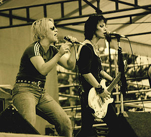 1994 in music - Joan Jett performing at Bumbershoot 1994.