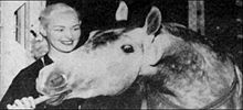 Joan Robinson and her horse, Beloved Belinda, 1953