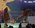 Joey Mercury, Johnny Nitro, & Melina Perez entering the ring (Augusta, Georgia - December 3 2005).jpg