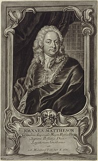 Johann Mattheson German composer and theorist