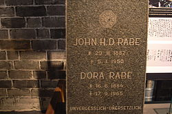 John H D Rabe tombstone