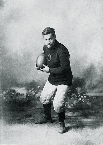 John Henry Wise - Wise in his football uniform at Oberlin College.