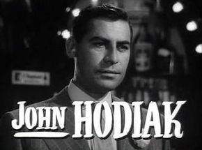 Description de l'image  John Hodiak in A Lady Without Passport trailer.JPG.