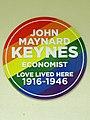 John Maynard Keynes Economist Love Lived Here 1916-1946.jpg