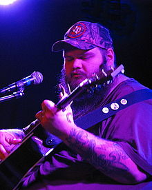 John Moreland performing during the Asbury Acoustic Cafe series at The Saint (music venue) in Asbury Park, NJ on June 9, 2015