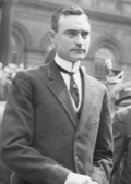 John Purroy Mitchel on May 11, 1914 at the memorial for the Veracruz dead.png