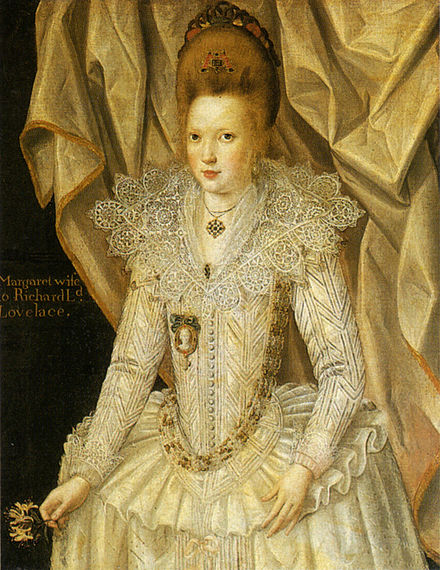 Portrait of Margaret, Lady Lovelace, Wife of Richard, 1st Lord Lovelace by John de Critz John de Gritz Margaret of Lovelace.jpg
