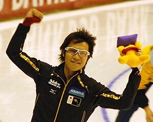 Joji Kato - Kato at a 2008 World Cup in Thialf (Heerenveen, Netherlands)