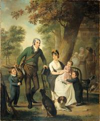 Portait de la famille de Jonkheer Gysbert Carel Rutger Reinier van Brienen van Ramerus
