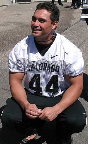 2006 Colorado Buffaloes football team - Jordon Dizon before the 2007 spring game, April 14, 2007.