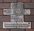 Joseph Gillott Victoria Works plaque.jpg