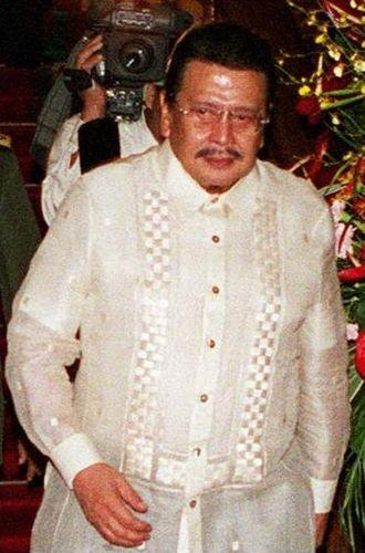 Joseph Estrada - President Estrada in 2000.