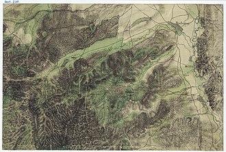 Cisnădie - Cisnădie on the Josephine Map of Transylvania, 1769-73.