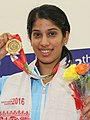 Joshana Chinappa at the 12th South Asian Games in 2016 (DYK crop).jpg