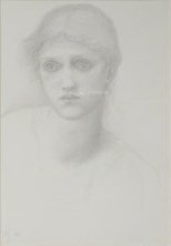 drawing of Julia's head 1873 by Burne-Jones