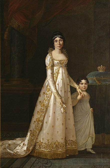 Julie Clary, Queen of Naples, with her daughter Zenaide Bonaparte in 1807, by Robert Lefevre (1755-1830). Julie Clary.jpg