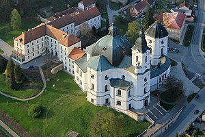 The iconic radical baroque space - Basilica Virgin Mary in Křtiny, Moravia