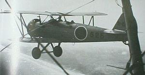 飛行中の九三式陸上中間練習機