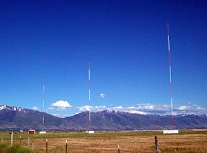 KANN - The radio towers for KANN 1120, outside Syracuse, Utah.