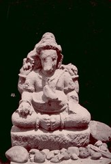 KITLV 87634 - Isidore van Kinsbergen - Sculpture of Ganesha came from Bandung, moved to the Museum of the Batavian Society of Arts and Sciences in Batavia - Before 1900.tif