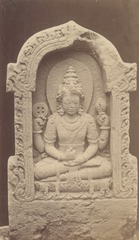 KITLV 87690 - Isidore van Kinsbergen - Sculpture of Vishnu from the Dijeng plateau - Before 1900.tif
