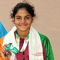 Kahiruni Perera (SRI LANKA) won Bronze Medal in Women's 50m Fly Swimming, at the 12th South Asian Games-2016, in Guwahati (cropped).jpg