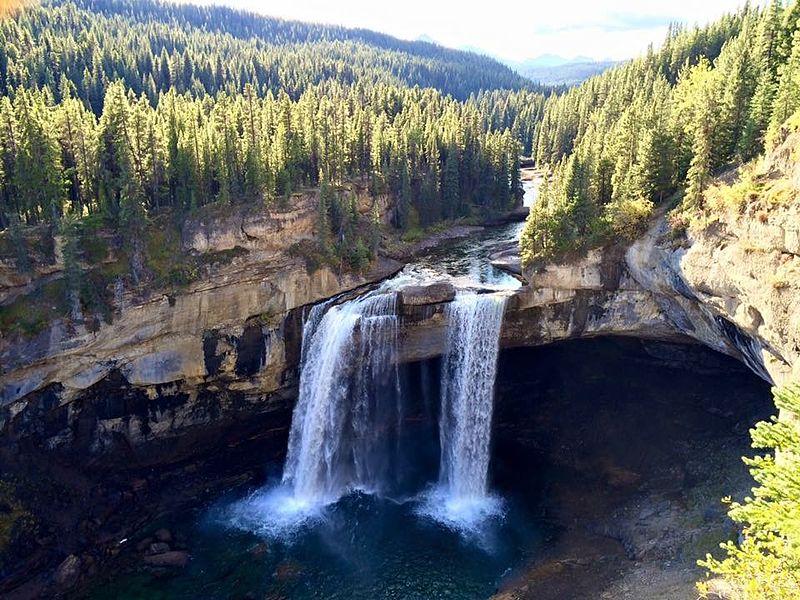 Kakwa Falls in the Kakwa Wildlands provincial park, Alberta