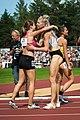 Kalevan Kisat 2018 - Women's 800 m - Saija Seppä, Sara Kuivisto, Jonna Julin.jpg