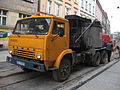 KamAZ-based asphalter truck during Długa street reconstruction in Kraków (4).jpg