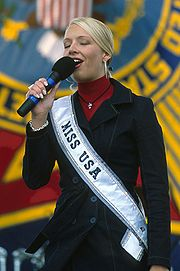 Miss USA 2001 Kandace Krueger, who competed as Miss Texas USA