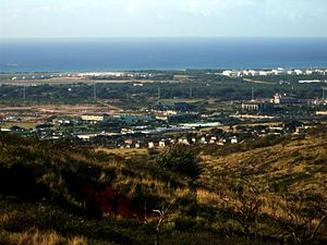 Kapolei, Hawaii - Kapolei City Center under development, taken from Makakilo Heights