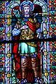 Karbach, Sint-Quintinuskerk, gebrandschilderd raam patroonheilige.jpg