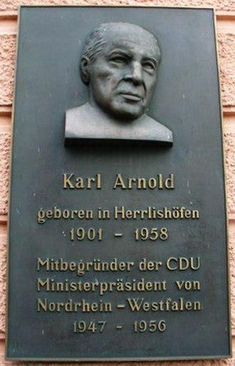 Warthausen - Memorial plate for Karl Arnold