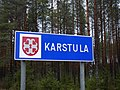 Karstula municipal border sign 20181113.jpg