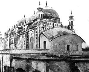 Kartalab Khan Mosque - Old image of Begum Bazar Mosque