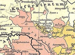 Duchy of Saxe-Wittenberg - Saxon Kurkreis, after 1554