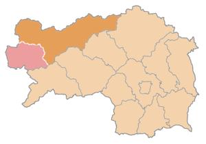 Liezen District - Image: Karte Aut Stmk LI