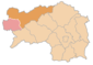 Location of the Liezen district within Styria