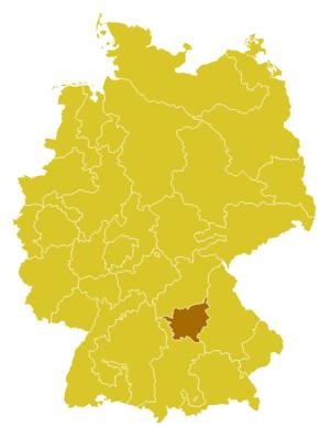 Roman Catholic Diocese of Eichstätt - Image: Karte Bistum Eichstaett